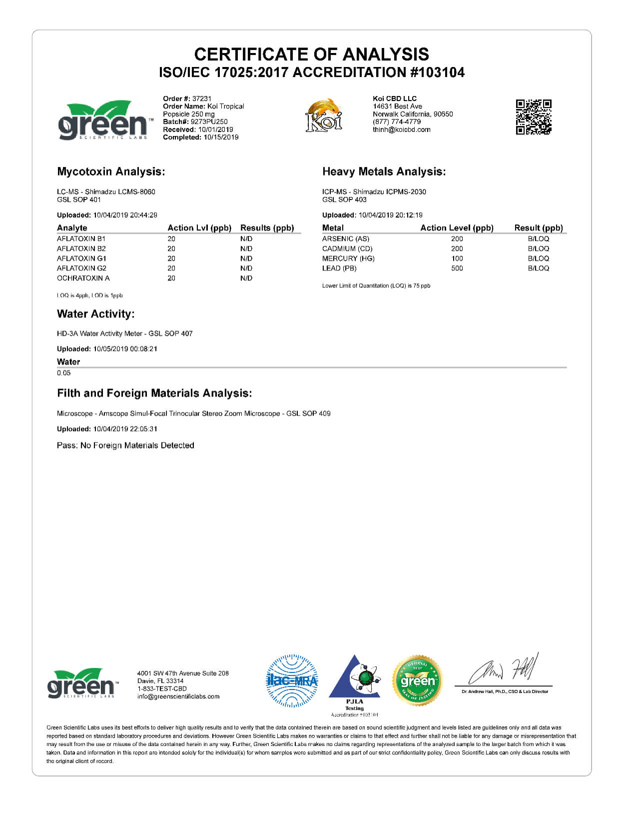 Koi CBD Tropical Popsicle Vape Oil 250mg page6