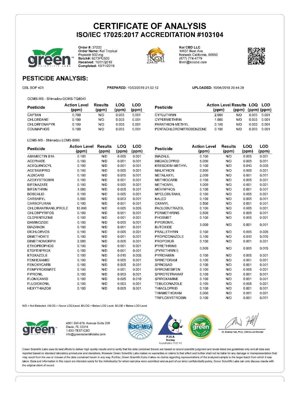 Koi CBD Tropical Popsicle Vape Oil 500mg page3