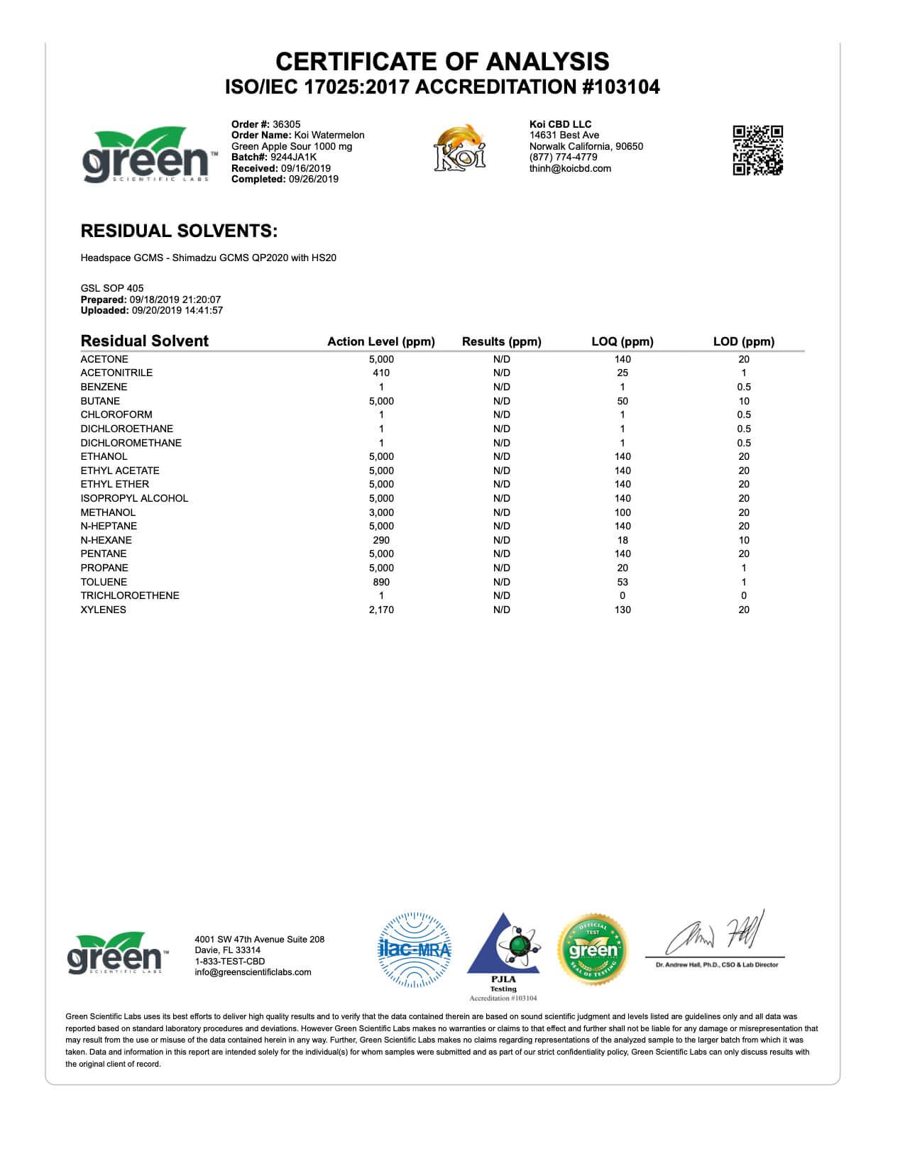 Koi CBD Watermelon Green Apple Sour Vape Oil 1000mg page4