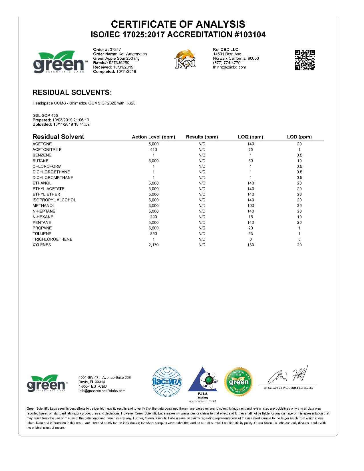 Koi CBD Watermelon Green Apple Sour Vape Oil 250mg page4