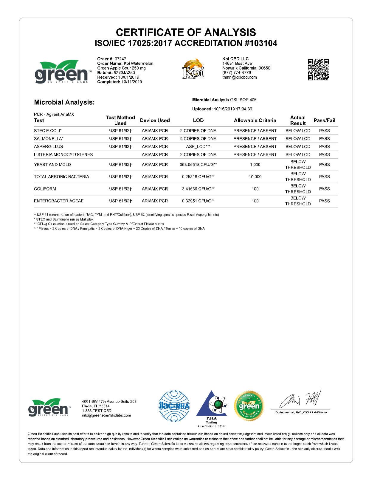 Koi CBD Watermelon Green Apple Sour Vape Oil 250mg page5