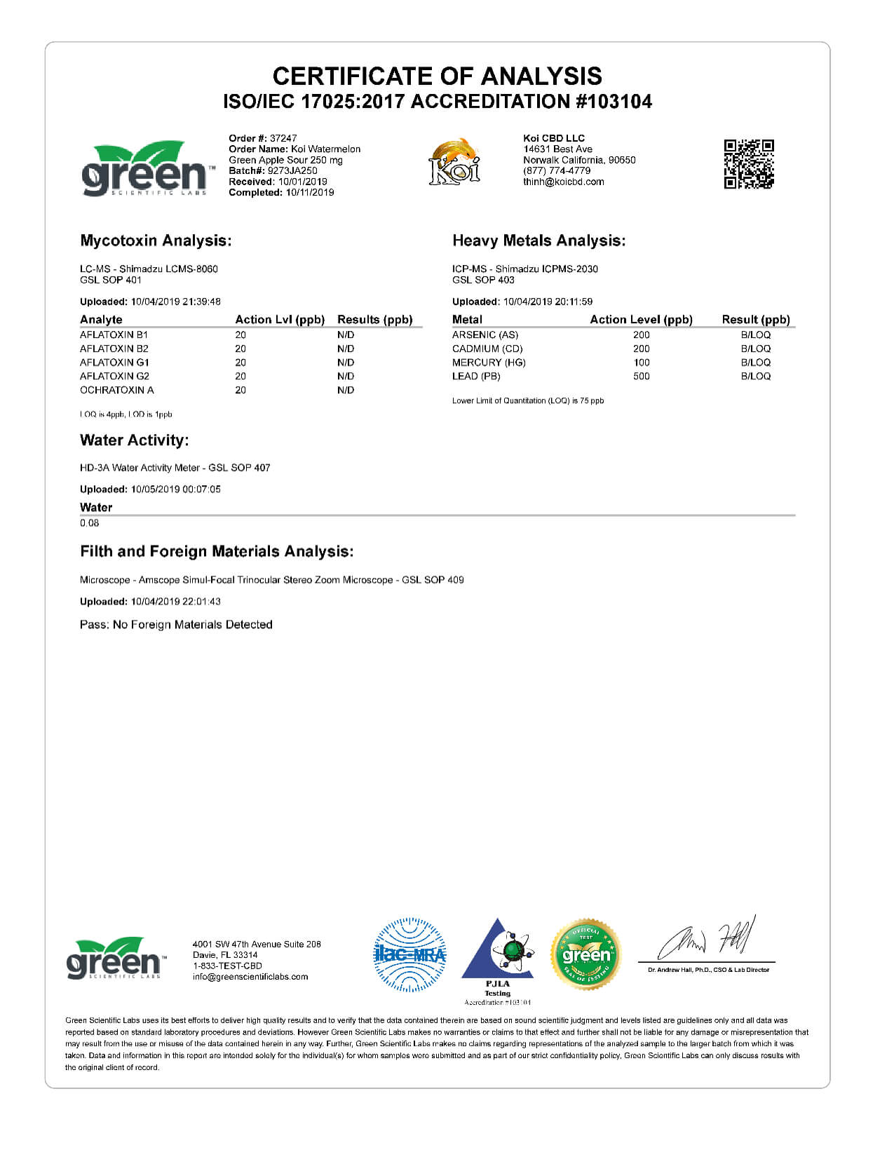 Koi CBD Watermelon Green Apple Sour Vape Oil 250mg page6