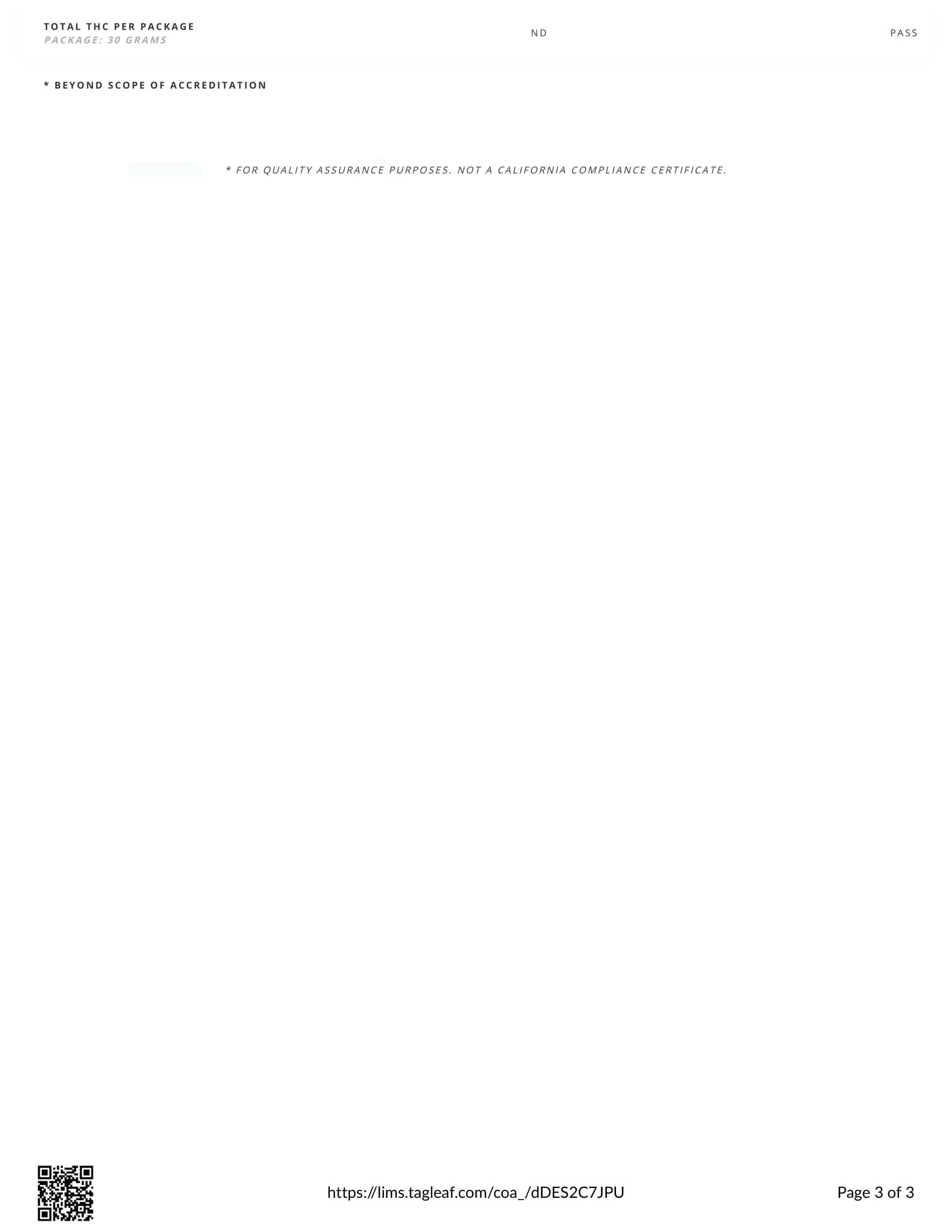 GRN CBD Oil Tincture Vanilla Lab Report Broad Spectrum 750mg