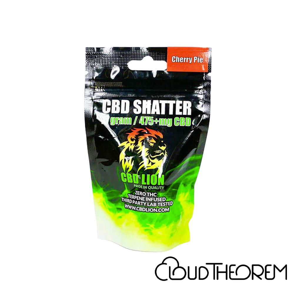 CBD Lion CBD Concentrate Cherry Pie Shatter Lab Report