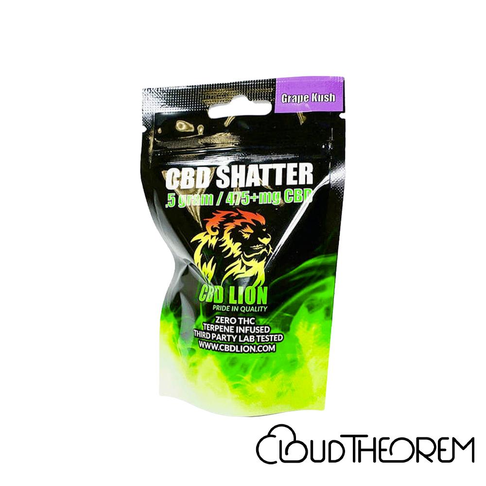 CBD Lion CBD Concentrate Grape Kush Shatter Lab Report