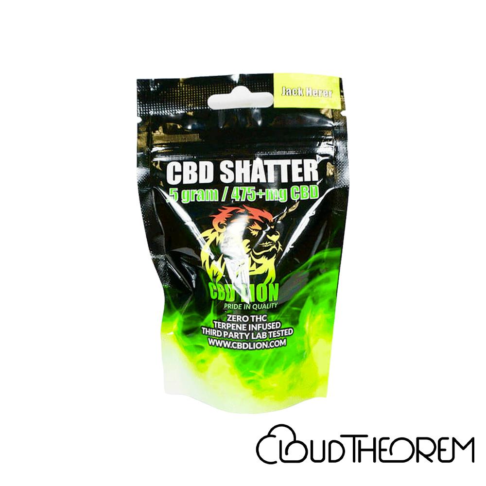 CBD Lion CBD Concentrate Jack Herer Shatter Lab Report