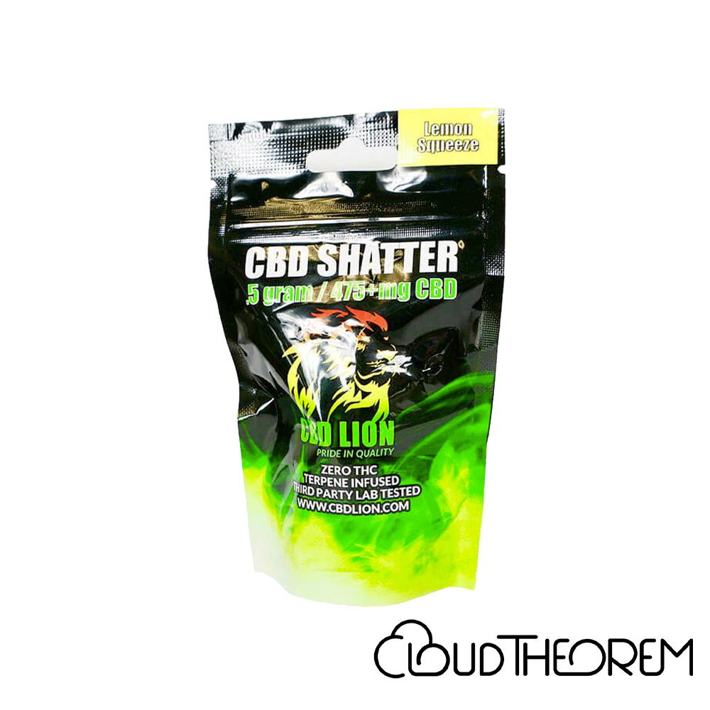 CBD Lion CBD Concentrate Lemon Squeeze Shatter Lab Report