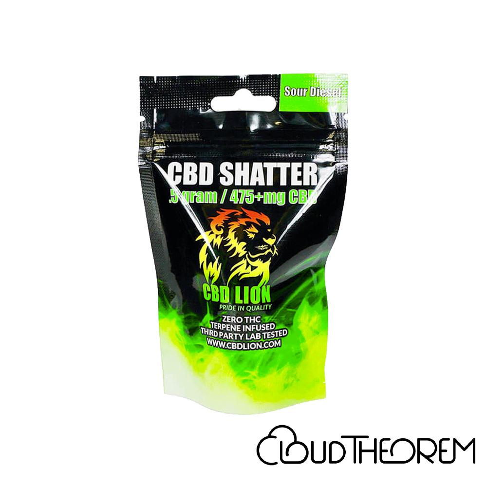 CBD Lion CBD Concentrate Sour Diesel Shatter Lab Report