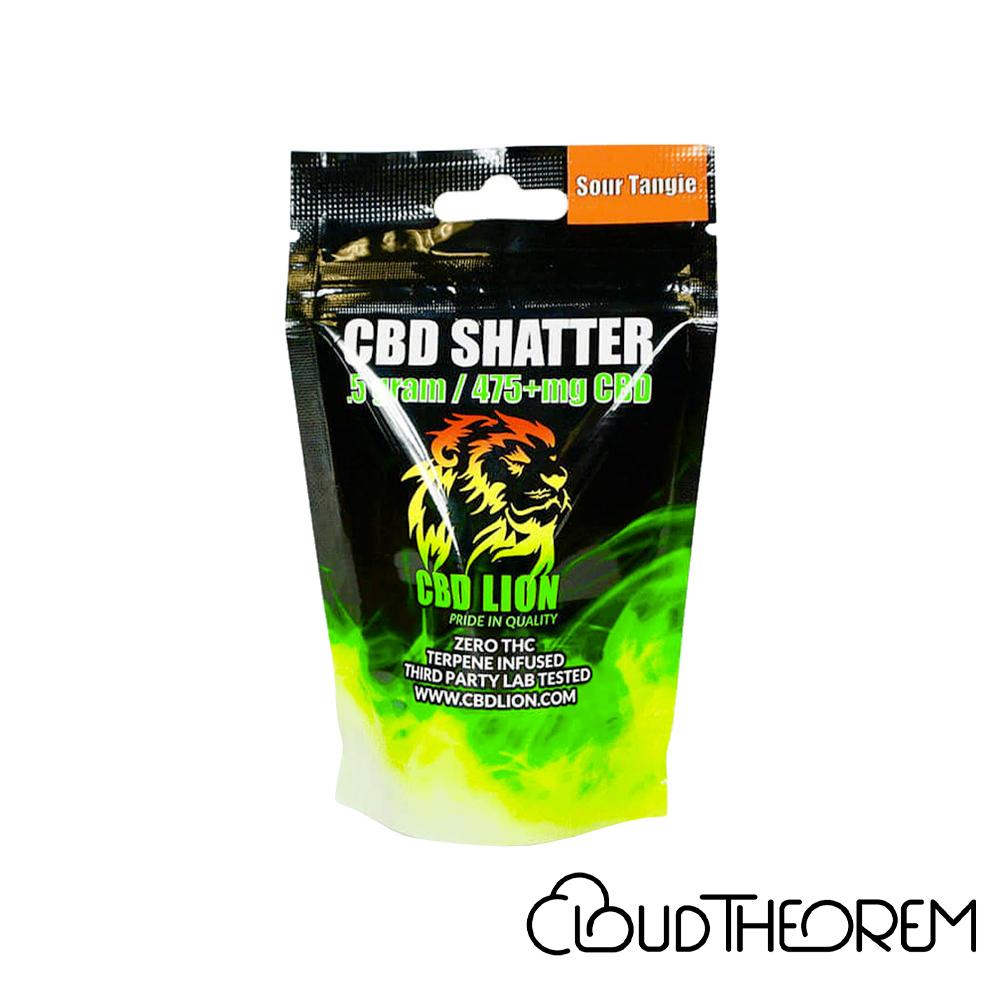 CBD Lion CBD Concentrate Sour Tangie Shatter Lab Report