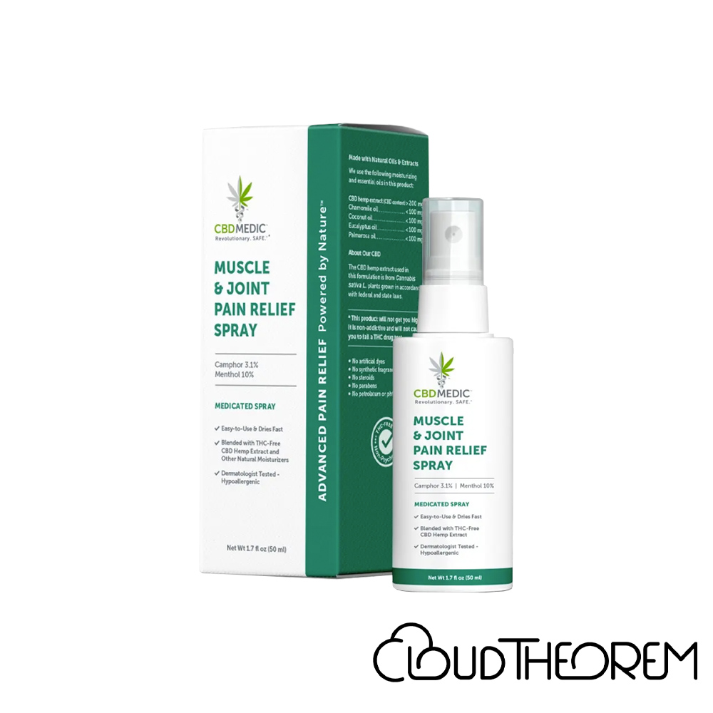 CBDMEDIC CBD Topical Muscle & Joint Pain Relief Spray Lab Report