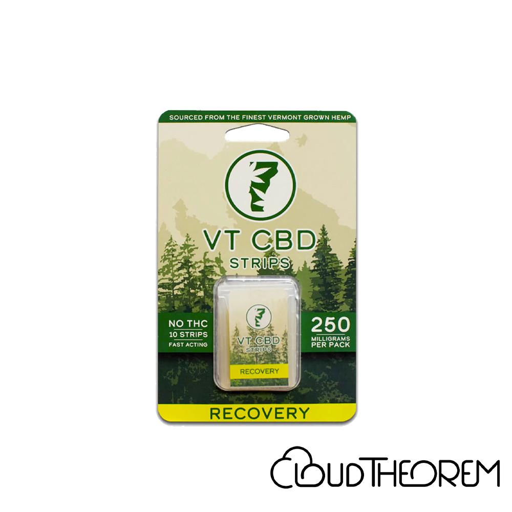 VT-CBD Goods CBD Edible Lemon Recovery Strips Lab Report