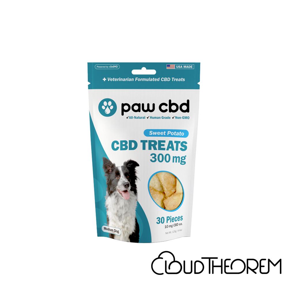 cbdMD CBD Pet Edible Sweet Potato Dog Treats Lab Report