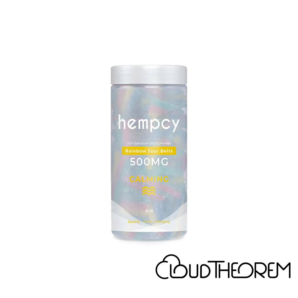Hempcy CBD Edible Rainbow Sour Belt Gummies Lab Report