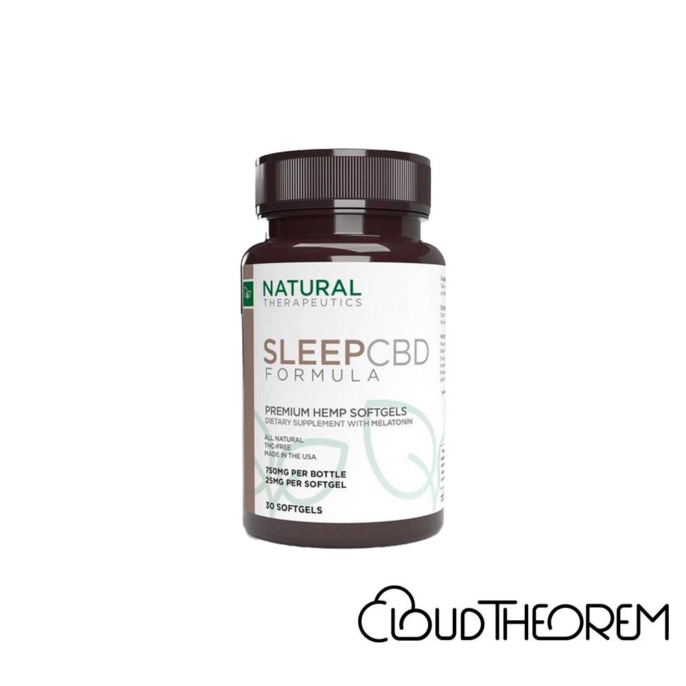 Natural Therapeutics CBD Soft Gel Caps Sleep with Meatonin Lab Report