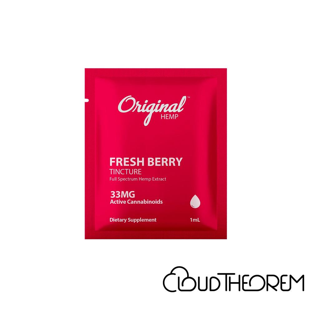 Original Hemp CBD Tincture Fresh Berry Lab Report